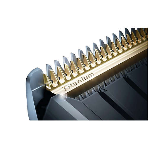 Hairclipper series 5000 Hair clipper with titanium blades & 4 combs