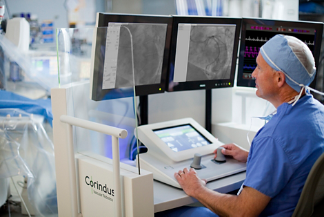 Corindus Sistema de Intervención Coronaria Percutánea (PCI) asistida robóticamente
