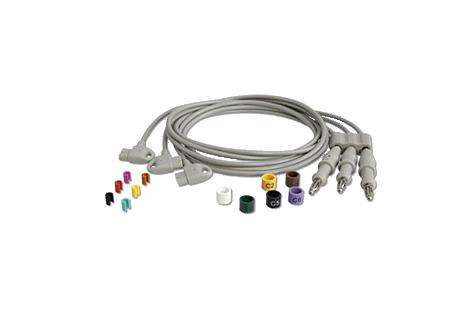 Long Chest Lead Set Diagnostic ECG Patient Cables and Leads