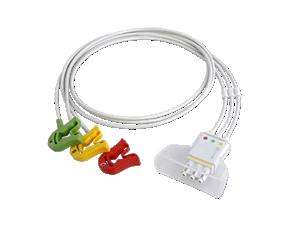 3-adriges Elektrodenkabel, Clip Telemetrie-Elektrodenkabel