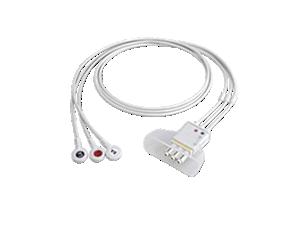 3-adr. E.kabel, Druckk., AAMI Telemetrie-Elektrodenkabel