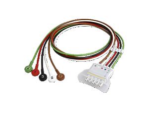 5-adr. E.kabel, Druckk., AAMI Telemetrie-Elektrodenkabel