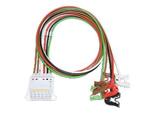 6-adr. E.kabel, Clip, AAMI Telemetrie-Elektrodenkabel