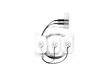 3-adr. Einweg-E.Kabel, Erw., r.durchl. Elektrode