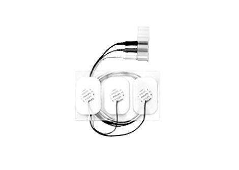 Adult disposable radiolucent 3 electrode lead set Electrode