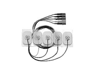5-adr. Einweg-E.kabel, Erw., röntgendicht Elektrode