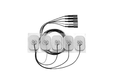Adult disposable metallic 5 electrode lead set Electrode