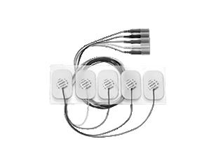 5-adr. Einweg-E.Kabel, Erw., r.durchl. Elektrode