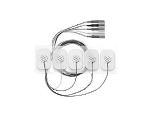 Adult disposable radiolucent 5 electrode lead set Electrode
