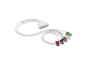 5-adr. EKG-Patientenk. m. Clip Telemetrie-Elektrodenkabel