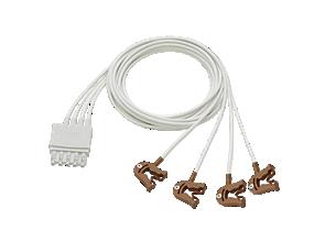 4-adr. Elektrodenkabel, Clip Elektrodenkabel