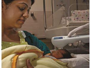 BiliChek Устройство для неинвазивной диагностики желтухи у новорожденных.