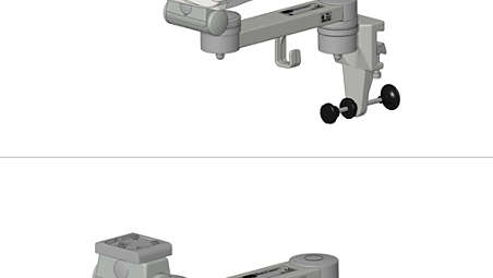 Single support arm on horizontal standard runner: Mounting kit