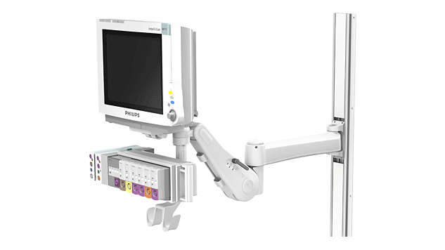 "IntelliVue MP60/70: VHM™ with 14""/35.6 cm Extension Wall Mounting"