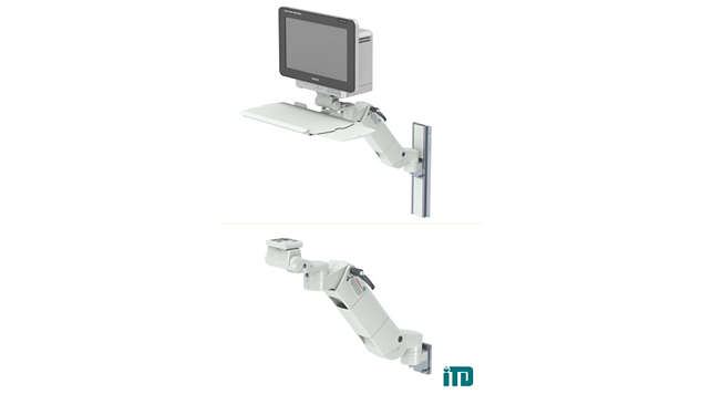 Height adjustable arm on GCX wall channel: Mounting kit