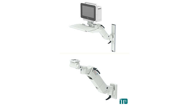 Height adjustable arm on ITD support extrusion