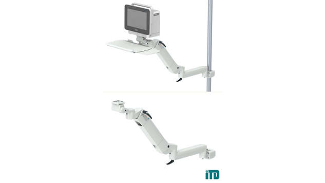 Height adjustable arm with extension on support bar D 25-42mm