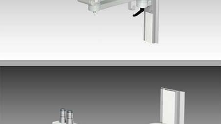 Single support arm for GCX wall channel