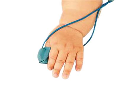 Sensor de dedo tipo luva reutilizável infantil Sensor