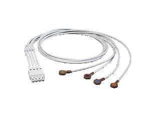 4-adr. Elek.kabel, Druckknopf Elektrodenkabel