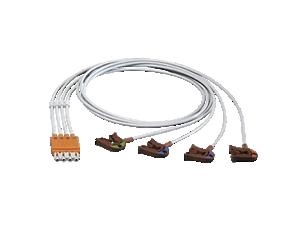 4-adr. Elek.kabel, Clip, abg. Elektrodenkabel