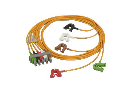 5-adr., Clip, OP, Sich., AAMI Elektrodenkabel