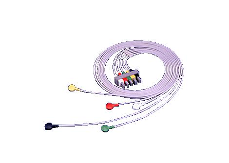5-adriges Elektrodenkabel, abgeschirmt, Sicherheitsanschluss Elektrodenkabel
