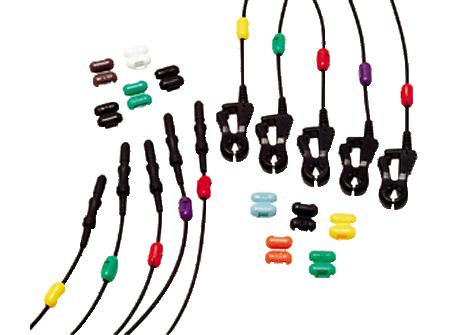 Radiotranslucent Socket Leadwires ECG grabber Lead Set