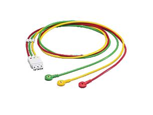3-adriges Elektrodenkabel mit Druckknopf Elektrodenkabel