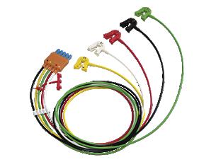 Elektrodenkabel, 5-adrig, Clip Elektrodenkabel