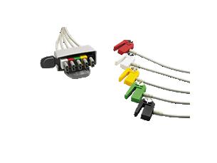 5-adr. E.kabel, Clip, IEC Telemetrie-Elektrodenkabel