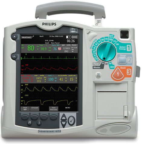 Philips HeartStart MRx ACLS Defibrillator/Monitor