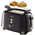 Philips Toaster  2 slot 3 function Black
