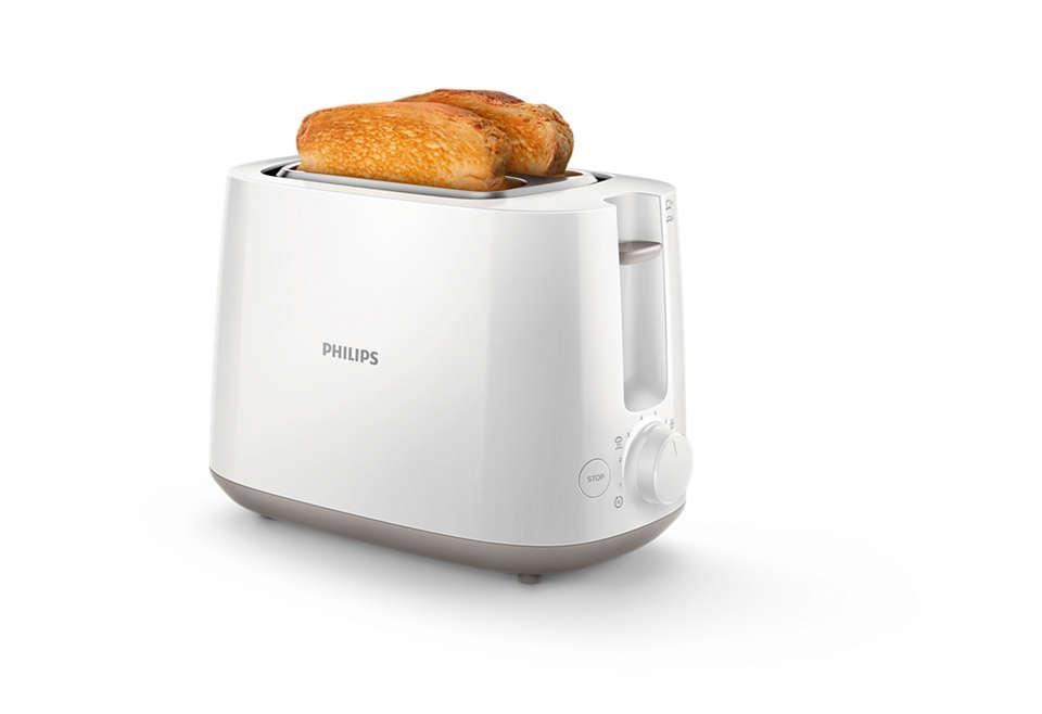 Knusprig gebräunter Toast an jedem Tag