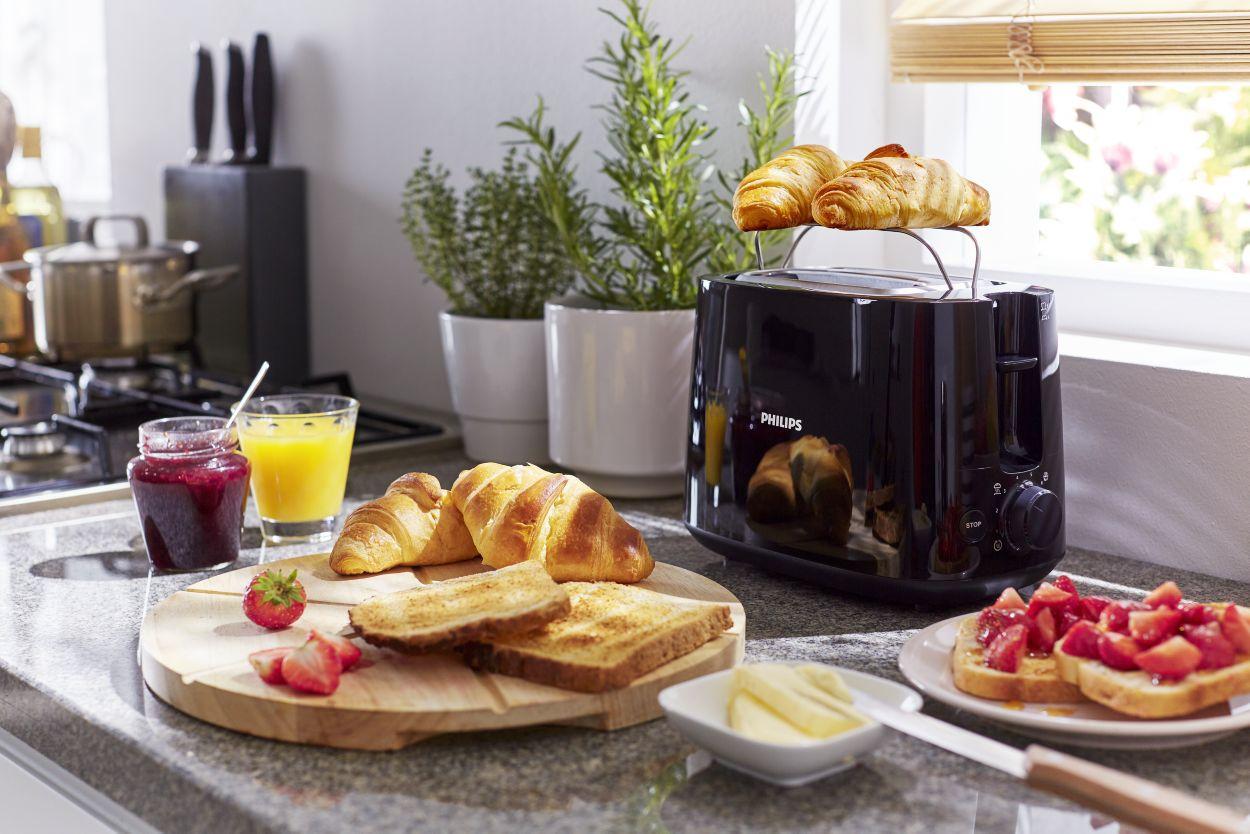 Kết quả hình ảnh cho Máy nướng bánh mì Philips HD2582
