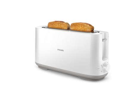 Knuspriger, gebräunter Toast an jedem Tag