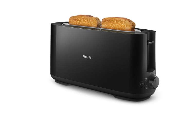 Elke dag goudbruin geroosterd brood