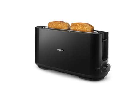 خبز محمّص ذهبي اللون ومقرمش كل يوم