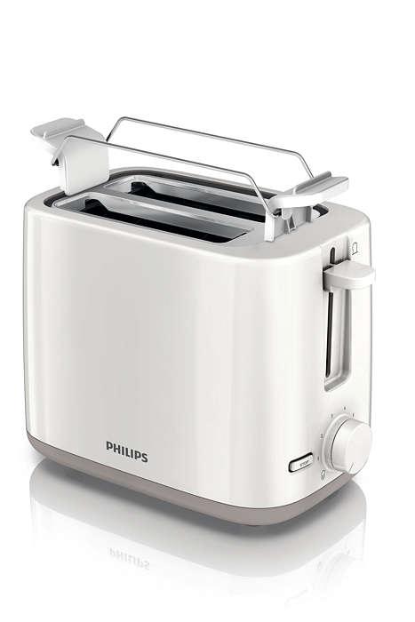 Ravnomjerno pečen tost zlatno-smeđe boje – svaki dan