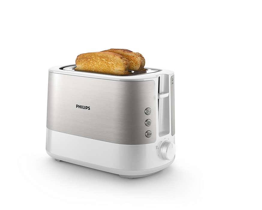 Un pain grillé croustillant, tranché à la machine ou à la main