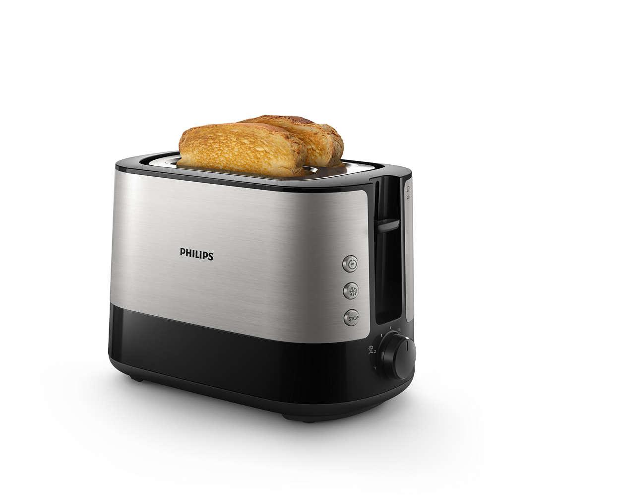 Odličen hrustljav opečen kruhek, ne glede na debelino