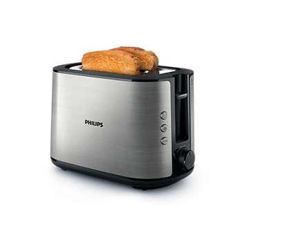 Du pain grillé parfait, tranché à la main ou la machine