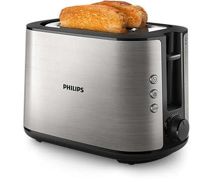 خبز محمّص ومقرمش بطريقة مثالية، مقصوص على اليد أو مقطّع مسبقًا