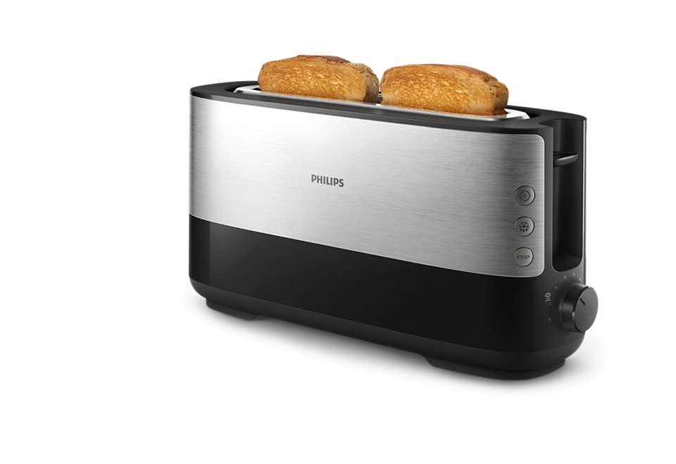 Para fatias de pão finas e grossas
