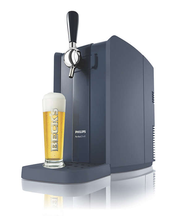 Fresh, cold draught beer at home