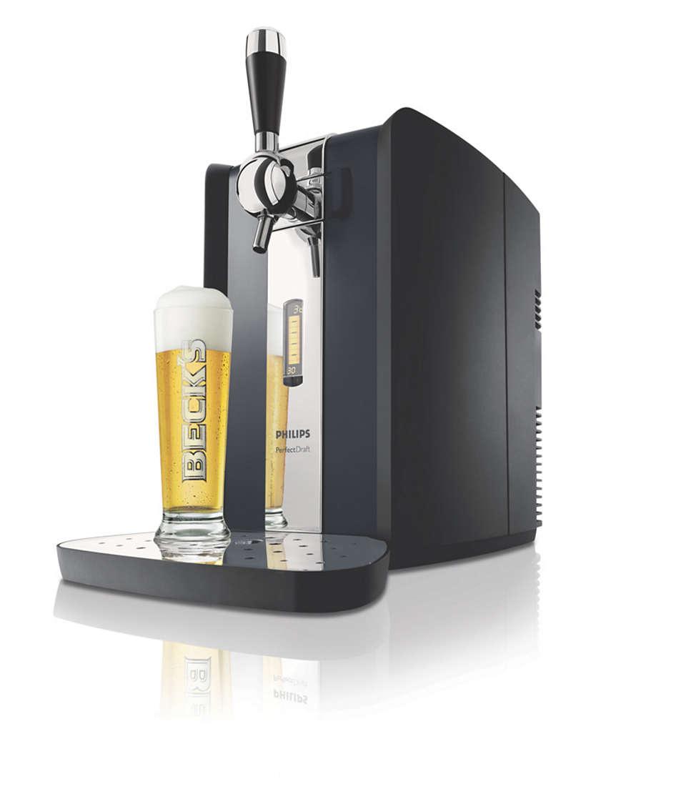Birra alla spina fresca e dissetante