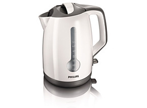 Philips Kettle HD4649 00 1.7 L 2400 W 1 cup indicator White grey Hinged lid