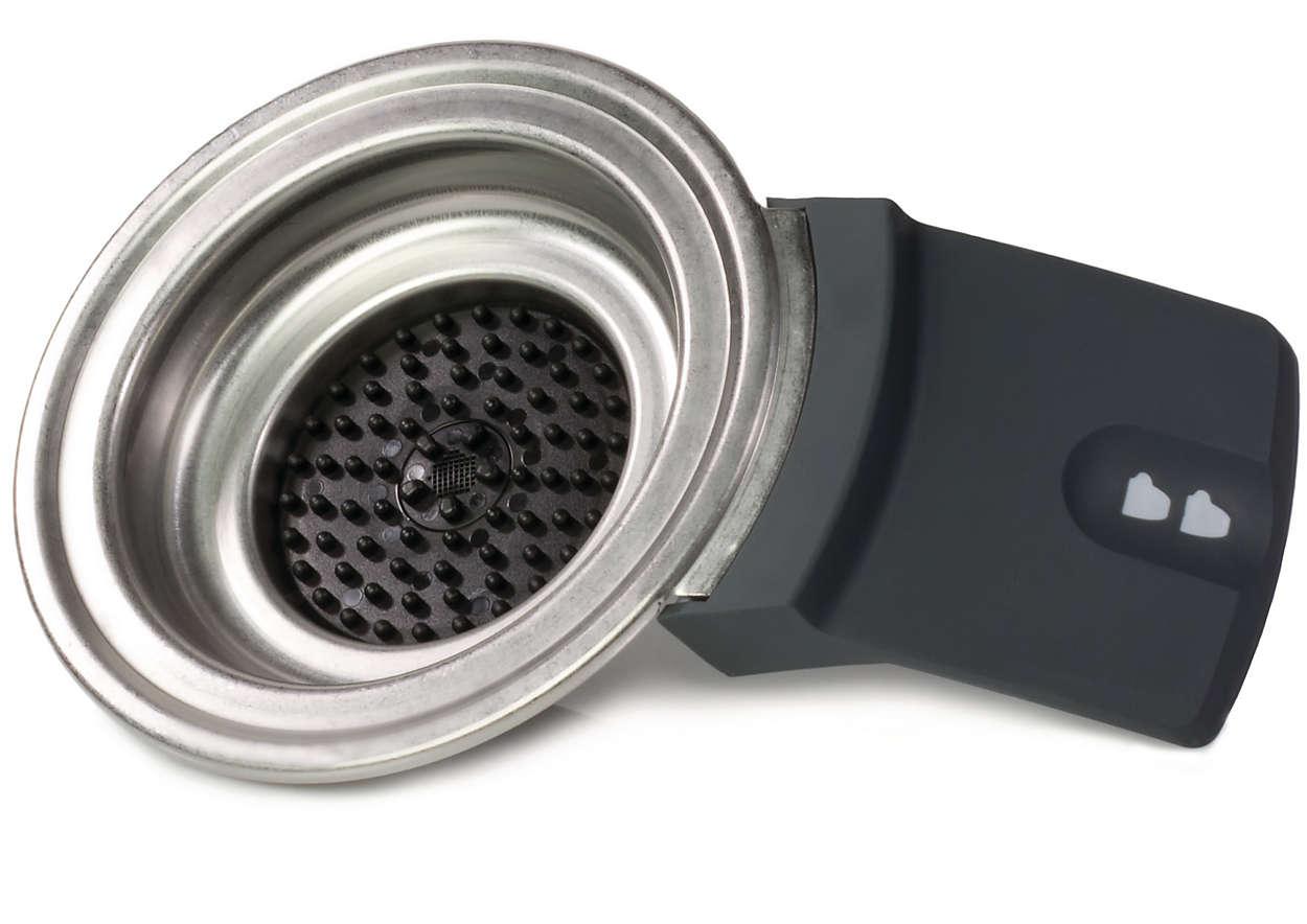 Rymmer två kaffekapslar i din SENSEO®