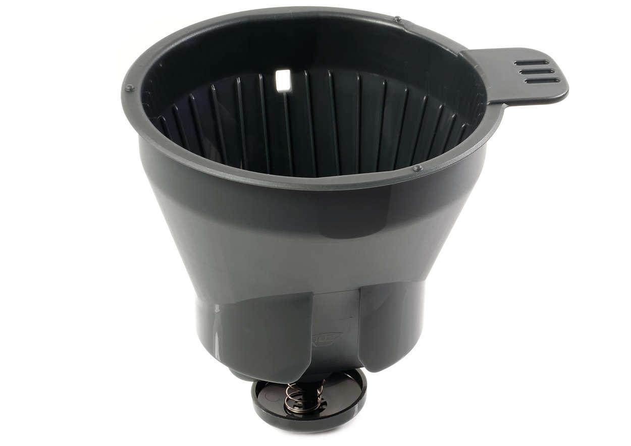Para sostener el filtro de la cafetera