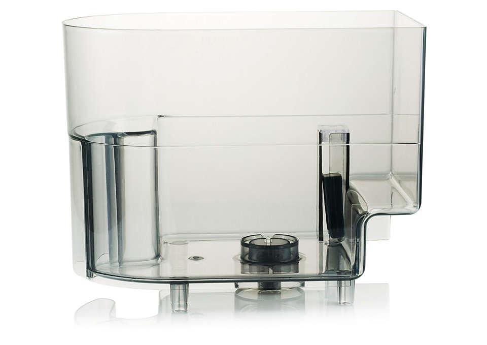 Stochează apa din aparatul de cafea